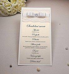 Papiernictvo - Svadobné menu White gold - 6591200_