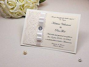 Papiernictvo - Svadobné oznámenie White gold - 6591241_