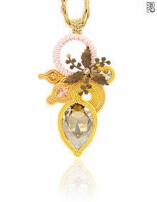 Náhrdelníky - Prívesok s kvetom Vesna - 6590752_