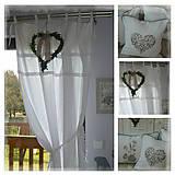 Úžitkový textil - Lněný bílý shabby závěs š.130xd.150cm - 6591375_