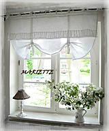 Úžitkový textil - Lněná blanc shabby roletka š.120x.d.80cm (celá lněná) - 6591538_