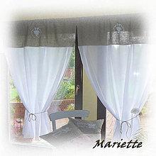 Úžitkový textil - Romantická lněná záclonka 100x180cm - 6591357_