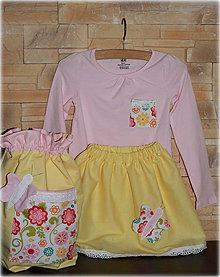 Detské oblečenie - Dievčenský set motýlik, 110. Ihneď k odberu - 6590120_
