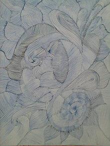 Kresby - Slnečnice medzi listami... - 6589765_