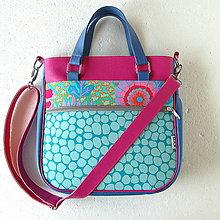 Veľké tašky - Big Sandy - Modro-cyklámenová - 6591140_