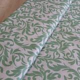 - Bavlnená látka - šedo zelená na režnej 5 - 6593041_