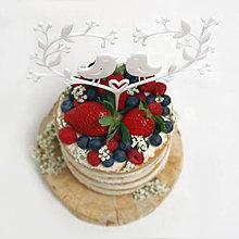 Dekorácie - Vtáčiky zápich na tortu - 6589845_