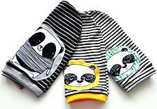 Detské čiapky - Úpletová čiapka -žltá panda vypredaná!! - 6594175_