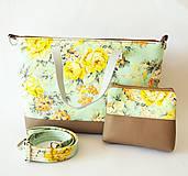 Veľké tašky - Jarná taška v pastelových farbách+kozmetická taška - 6594521_