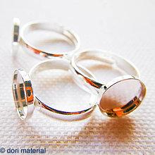 Komponenty - strieborný prsteň univerzálna veľkosť Ag 925, lôžko 10 mm - 6594472_