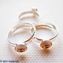 Komponenty - strieborný prsteň univerzálna veľkosť Ag 925, lôžko 6 mm - 6594475_