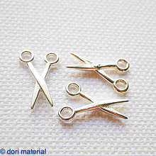 Komponenty - strieborné nožničky Ag 925; 19 x 10 x 1,6 mm - 6594524_
