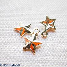 Komponenty - strieborná hviezdička Ag 925; 13,5 x 10,5 x 1,5 mm - 6594547_