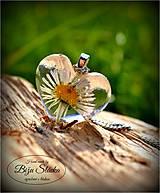 Náhrdelníky - Náhrdelník Sedmokráska v srdci (1893 A) - 6595097_