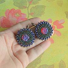Náušnice - Sparkly earrings  - vyšívané náušnice - 6594879_