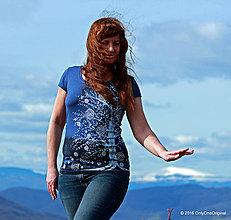 Tričká - Dámske tričko batikované a maľované IMELO - 6594088_