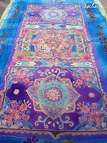 Šály - Hodvábny maľovaný šál Orientálna okenica - 6596201_