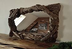 Zrkadlá - Zrkadlo s dreveným rámom - 6594777_