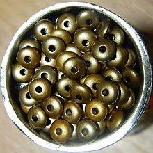 Korálky - Mačkané korálky bronz 6mm - 6596255_