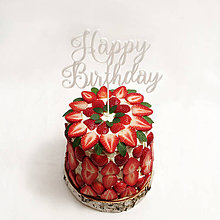 Dekorácie - HAPPY BIRTHDAY zápich na tortu - 6596953_