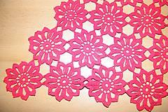 Úžitkový textil - Háčkovaná, červená dečka - 6594982_