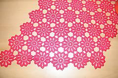 Úžitkový textil - Háčkovaná, červená dečka - 6594988_