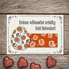 Papiernictvo - Vintage veľkončná pohľadnica - veľkonočné vajíčko 5 (ruže) - 6595790_