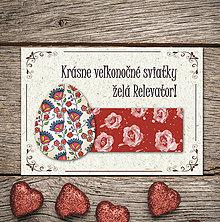 Papiernictvo - Vintage veľkončná pohľadnica - veľkonočné vajíčko 7 (ruže) - 6596145_