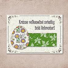 Papiernictvo - Vintage veľkončná pohľadnica - veľkonočné vajíčko 1 (listy 1) - 6596396_