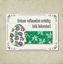 Papiernictvo - Vintage veľkončná pohľadnica - veľkonočné vajíčko 3 (listy 1) - 6596656_