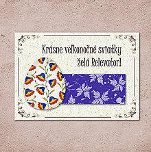Papiernictvo - Vintage veľkončná pohľadnica - veľkonočné vajíčko 5 (listy 1) - 6596752_