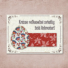 Papiernictvo - Vintage veľkončná pohľadnica - veľkonočné vajíčko 6 (listy 1) - 6596773_