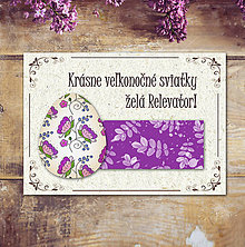 Papiernictvo - Vintage veľkončná pohľadnica - veľkonočné vajíčko 2 (listy 2 - 6596909_