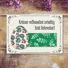 Papiernictvo - Vintage veľkončná pohľadnica - veľkonočné vajíčko 3 (listy 2) - 6596910_