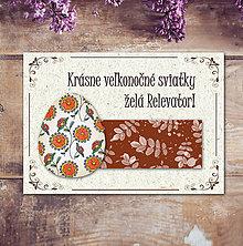 Papiernictvo - Vintage veľkončná pohľadnica - veľkonočné vajíčko 5 (listy 2) - 6597016_