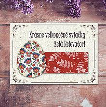 Papiernictvo - Vintage veľkončná pohľadnica - veľkonočné vajíčko 7 (listy 2) - 6597018_