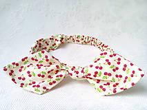 Pin Up headband on elastic (sweet cherries)