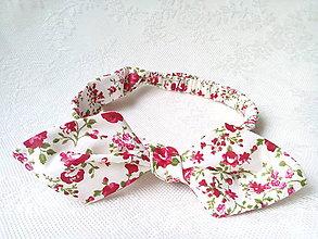 Ozdoby do vlasov - Pin Up headband on elastic (flowers) - 6600526_
