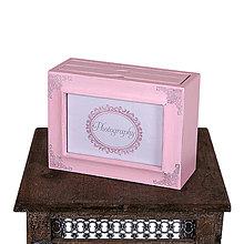 Rámiky - Pastelová kolekcia - drevený fotoalbum PINK - 6598161_