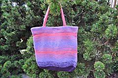 Veľké tašky - Nákupná kabela - Jarná fialka - 6600064_