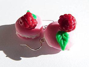 Náušnice - Malinové Macarons - 6598066_
