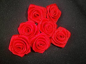 Galantéria - Saténová ružička priemer - 6598500_