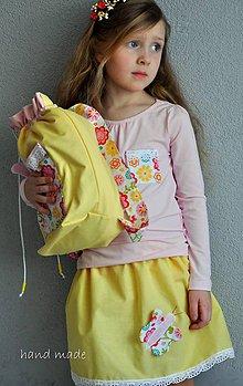 Detské oblečenie - Dievčenský set motýlik, 110 - 6599376_