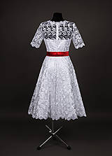 Šaty - Svadobné šaty vo vintage štýle z tylovej krajky - 6598051_