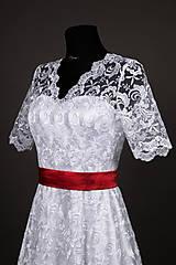 Šaty - Svadobné šaty vo vintage štýle z tylovej krajky - 6598052_