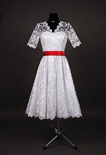 Šaty - Svadobné šaty vo vintage štýle z tylovej krajky - 6598067_