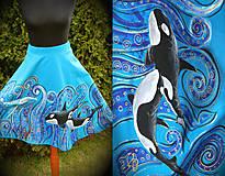 Sukne - Maľovaná sukňa... - 6598937_