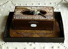 Krabičky - Krabica na vreckovky HOME čipka štýlová - 6599519_