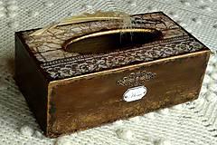 - Krabica na vreckovky HOME čipka štýlová - 6599568_