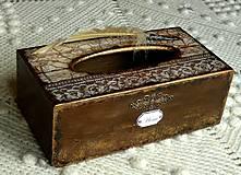 Krabičky - Krabica na vreckovky HOME čipka štýlová - 6599609_